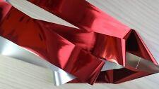 """""""Crimson Red"""" Pure Metallic transfer nail art foil - 1 meter"""