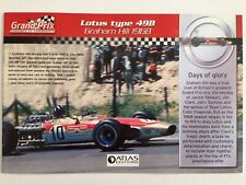 1968 Graham Hill Lotus Type 49B Rba Atlas Edition A5 Paper Booklet