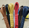 a pair  Flat Waxed Shoe Laces Leather Shoes Waterproof String Weave ShoeLaces