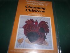 CHARMING CHICKENS WALL ART quilting APPLIQUE 12