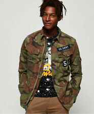 Superdry Men's Patch Patrol Shirt Camouflage Army Shirt All Sizes