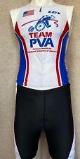 Team PVA Triathlon Cycling Shorts and Jersey, Mens Medium