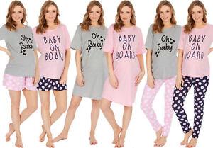 New 100% Cotton Maternity Nightwear Womens Long Short Pyjama Set Nightshirt Gift