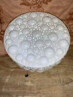 Vintage White Glass Ceiling Light Cover Bubble