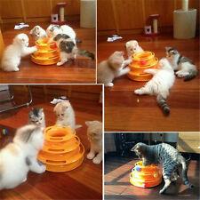 Crazy Ball Pet Cat Kitten Interactive Motion Disk Amusement Plate Trilaminar Toy