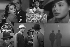 CASABLANCA MOVIE POSTER ~ SCENE COLLAGE 24x36 Humphrey Bogart Ingrid Bergman