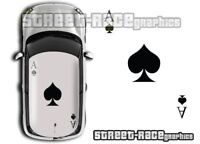 Mini roof 022 Ace of Spades graphics stickers decals Cooper R53 R56 One