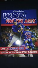 """Chicago Cubs """"Won for the Ages"""" Commemorative Book World Series Champions 2016"""