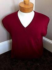 New NWT Pringle Wool Wine V-neck Mens M Sweater Vest