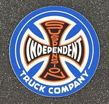 Independent Truck Suspension Skateboard Sticker 3.5in white/blue si