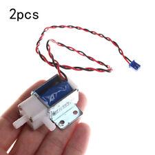 2x DC 12V Mini Elektrisches Magnetventil Schließer Fluid Gas Wasser LuftventilGG