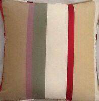 A 16 Inch Cushion Cover In Laura Ashley Caspian Silk Stripe Fabric