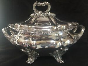 Antique Georgian Silver Plate Covered Tureen - Magnificent!