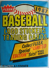 1987 Fleer MLB Baseball Cards Wax Pack New Sealed Authentic Major League