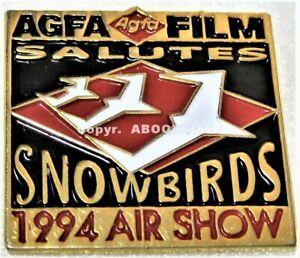 CANADIAN FORCES SNOWBIRDS ACROBATIC TEAM 1994 AGFA FILM SALUTES Lapel Pin