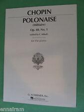 Chopin Polonaise Militaire Op 40 No 1 ed. Mikuli piano sheet music
