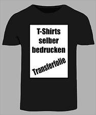 T-Shirt Folie A4 Transferfolie Bügelfolie Textildruck Folie für dunkle Stoffe