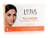 Lotus Herbals Natural Glow Kit Skin Radiance Facial Kit For Natural Instant Glow