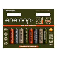 8 x Panasonic eneloop AA 2000 mAh Rechargeable Batteries TONES EXPEDITION