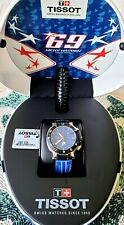 Tissot T-Race Chronograph Ltd Ed 2014 Blue Rubber Watch T0484172704700