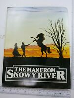"1982 Press Kit ""The Man from Snowy River"" with 6 Stills Photos Ultra Rare"