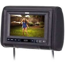 "SAVV 7"" Wide Headrest Video Monitor with Multimedia Disc & Digital Media Player"