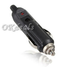 12V Male Car Cigarette Lighter Socket Plug Connector with Fuse Red LED DIY BEST