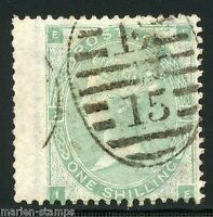 GREAT BRITAIN  ONE SHILLING GREEN  SCOTT#42  USED LOT V