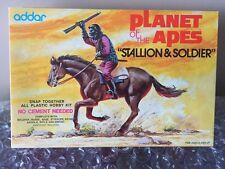 ORIGINAL ~ ADDAR ~ PLANET OF THE APES ~ STALLION & SOLDIER MODEL KIT ~ 1974