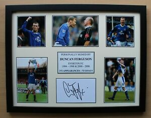 Duncan Ferguson Signed Everton Multi Picture Career Display (20671)