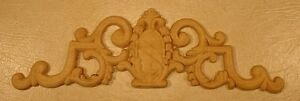 """WOOD EMBOSSED APPLIQUE CARVING  4""""  X  13 3/4""""   HQ469"""