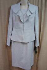 "Le Suit Dress Suit Sz 4 Silver Grey "" Carribean Blue"" Business Cocktail Dress"