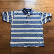 GANT Mens Blue Multi Color Orange Yellow Green Red Polo Shirt Size Tag Removed