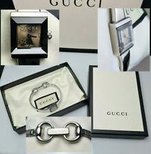 GUCCI 128.5 G Frame Bronze Interlocking GG Bracelet Bangle Horsebit Watch Box