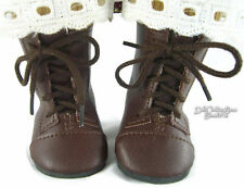 "Brown Work Boots for 18"" American Girl Addy Doll Clothes Sew Beautiful"