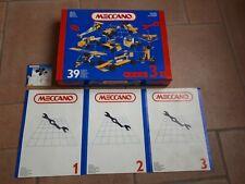 Boite Meccano1,2 et 3 - 39 Pièces