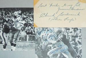 Rare -Deceased Football HOF Greats/Legends- Vintage Signed/Autograph/Auto Lot