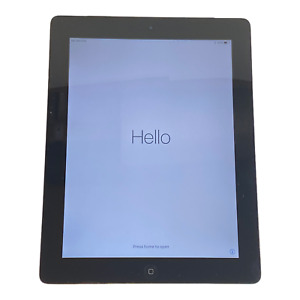 Apple iPad 4th Gen 64GB Wifi AT&T Silver with Leather Case and New Charging Cord