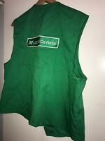 National Car Rental Vintage Patch Logo Employee Vest 80s USA made Green