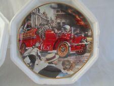 "1992 ""1922 Aherns- Fox Fire Engine Plate"" Franklin Mint, National Fire Museum"