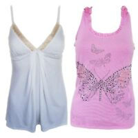WOMEN`S NEW RIVER ISLAND BRODERIE CAMI TOP SIZES UK 8-10-12-14 / RRP £30