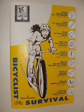Bicyclist Survival  Dave Glowacz 1995 Bicycle Booklet Repair Safety Laws Advice