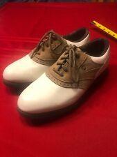 FootJoy Green Joy Women's White Golf Shoes Size 7.5 M Tan