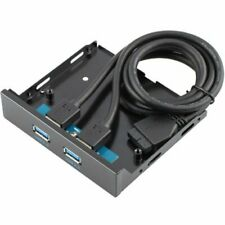 "3.5"" Floppy Bay 2 Ports USB 3.0 Front Panel Bracket Cable usb3.0 to 20pin/19pin"