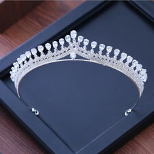 3cm High Clear CZ Crystal Large Wedding Bridal Party Pageant Prom Tiara Crown