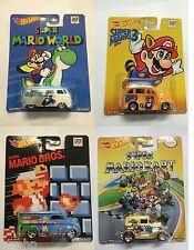Hot Wheels Pop Culture Super Mario Bros Set Of 4 NEW