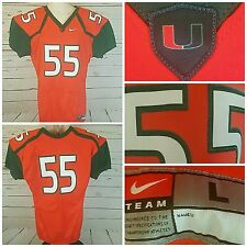 Miami Hurricanes Football Jersey Nike Team Issued