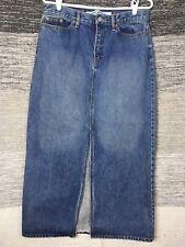 Gap Jeans Skirt Size 10 Denim Full Length Maxi Long Classic Blue Slit Pockets