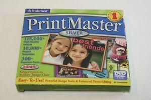 Broderbund Printmaster Silver 17 PC CD-Rom Windows