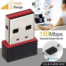 2018 Mini USB WiFi Dongle sans fil 802.11 b/g/n adaptateur réseau pour PC portable UK